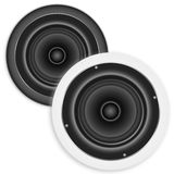 Black and white speakers Stock Images