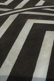 Black and white speed bump chevron Stock Images