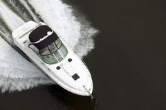 Black and White Speedboat Stock Images