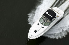 Black and White Speedboat Royalty Free Stock Image