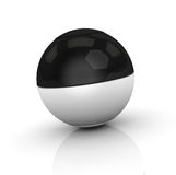 Black and white sphere Stock Images