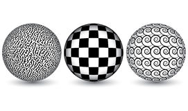 Black and white spheres Stock Photography