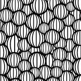 Black and white spheres seamless pattern. Royalty Free Stock Photos