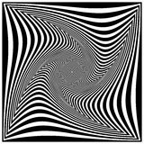 Black and white spiral. Optical art Stock Photo