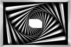 Black and white spiral Stock Photography