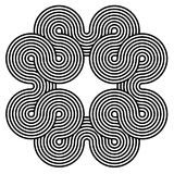 Black and white spiral background Stock Image