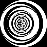 Black and white spiral background. Black and white spiral circles background Royalty Free Illustration