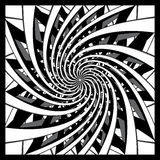 Black and white spiral design Stock Images