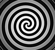 Black and white spiral gradient Stock Image