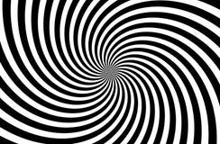 A black and white spiral optical illusion background . Monochrome concept