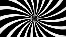 Black and White Spiral Spinning Left. Video background for a transition or luma key stock video footage