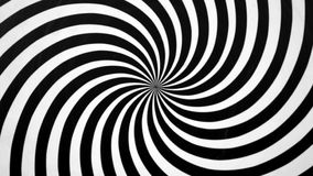 Black and White Spiral Spinning Right. Video background for a transition or luma key stock video footage