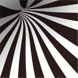 Black and white spiral tunnel. Vector. Illustration Stock Photos
