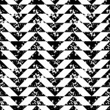 Black and white sponge print triangles geometric grunge seamless pattern, vector Royalty Free Stock Photography