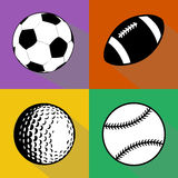 Black and white sport balls vector set Stock Images