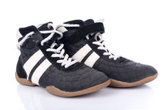 Black and white sport shoes Royalty Free Stock Photography