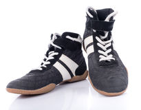 Black and white sport shoes Stock Images