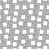 Black and White Square Abstract Geometric Design Tile Pattern Re Stock Photos