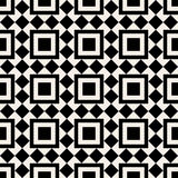 Black and white square abstract retro pattern Stock Photos