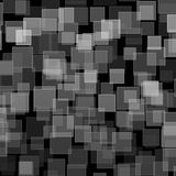 Black white square bokeh on abstract background royalty free stock photos