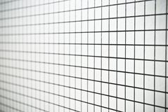 Black and white square checked paper background or texture Royalty Free Stock Image