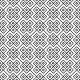 Black and White Square Geometric Repeat Pattern Background Royalty Free Stock Photo
