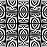 A black and white square - optical illusion Stock Image