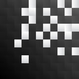 Black and white square pattern background Royalty Free Stock Image