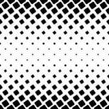 Black and white square pattern - geometric vector background design from angular rounded squares Royalty Free Stock Photography