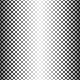 Black and white square pattern - geometrical halftone abstract background  Royalty Free Stock Images