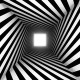 Black and white square spiral Royalty Free Stock Images