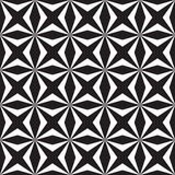 Black and white square and star shape Stock Image