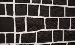 Black White Square Wall Mexico Royalty Free Stock Photo