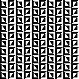 Black and white square and wave combination in a seamless pattern with high contrast. Vector EPS 10 Stock Photo