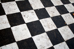 Black and white squares. Drawing on road Royalty Free Stock Photography