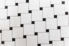 Black and white squares. Drawing on road royalty free stock photos