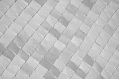 Black and white, squares, diamonds, background, closeup. Stock Image