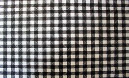 Black white squares. Black and white gingham tablecloth texture background, high detailed Stock Image