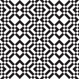 Black and white squares and stripes Royalty Free Stock Photo