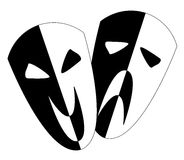 Black and White Stage Masks Stock Image