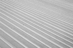 Black and white of stainless roof background Royalty Free Stock Photos