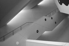 Black and White Staircase. A Black and White Interior Staircase Stock Image