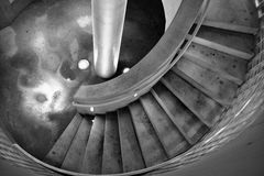 Black and white stairs Stock Photos