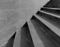 Black and white stairs. In town as a background stock photo