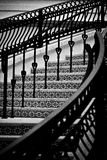 Black and White Stairway Abstract Pattern Royalty Free Stock Photography