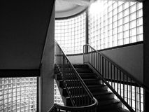 Black and white stairway Royalty Free Stock Photography