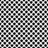 Black white star pattern background Royalty Free Stock Image