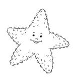 Black and white - star of sea Royalty Free Stock Images