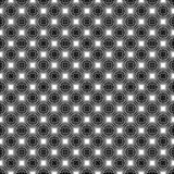 Black and White Stars Seamless Asanoha Pattern vector illustration