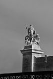 Black and white statue in Rome Stock Images